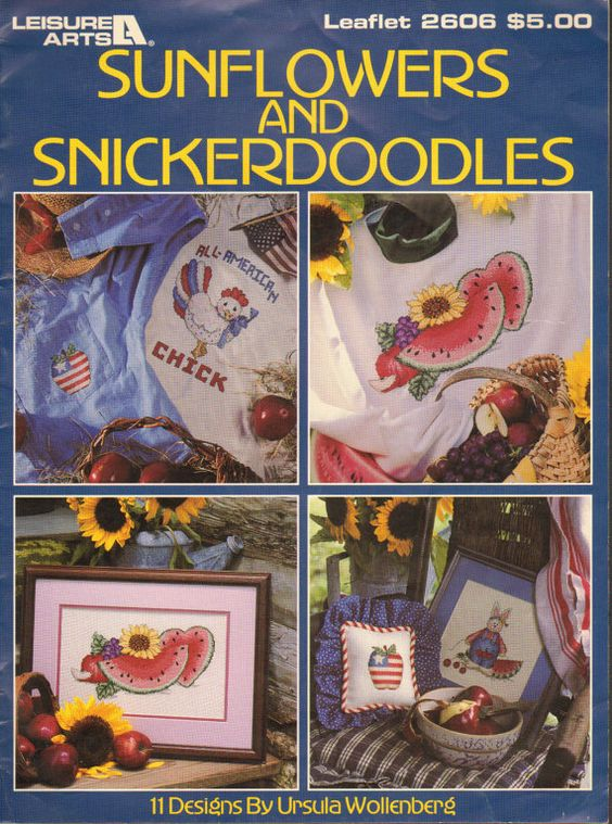 Cross Stitch Book Sunflowers and Snickerdoodles by MySewingParlor, $3.00