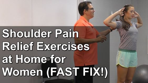 Shoulder Pain Relief Exercises at Home for Women (FAST FIX!)