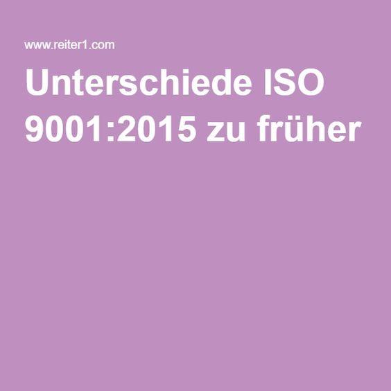 Unterschiede ISO 9001:2015 zu früher