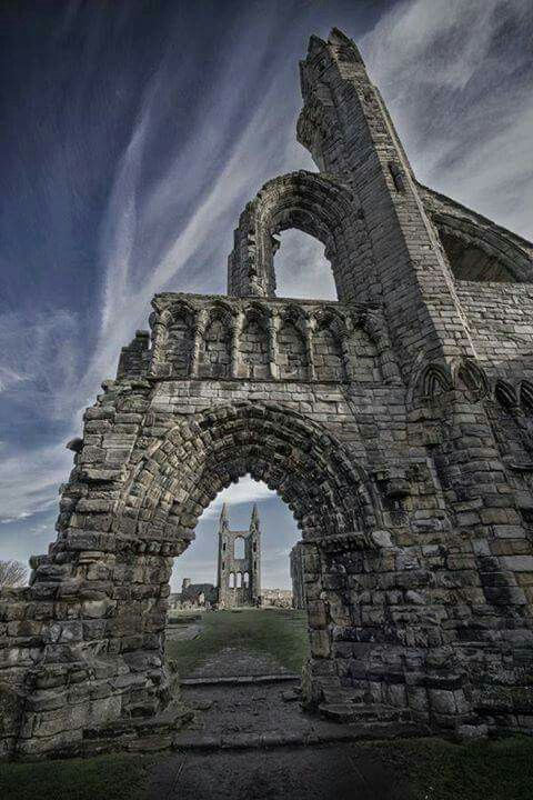 St. Andrews Cathedral, Scotland. This image was originally shared by the FB page 'Ancient Origins.'
