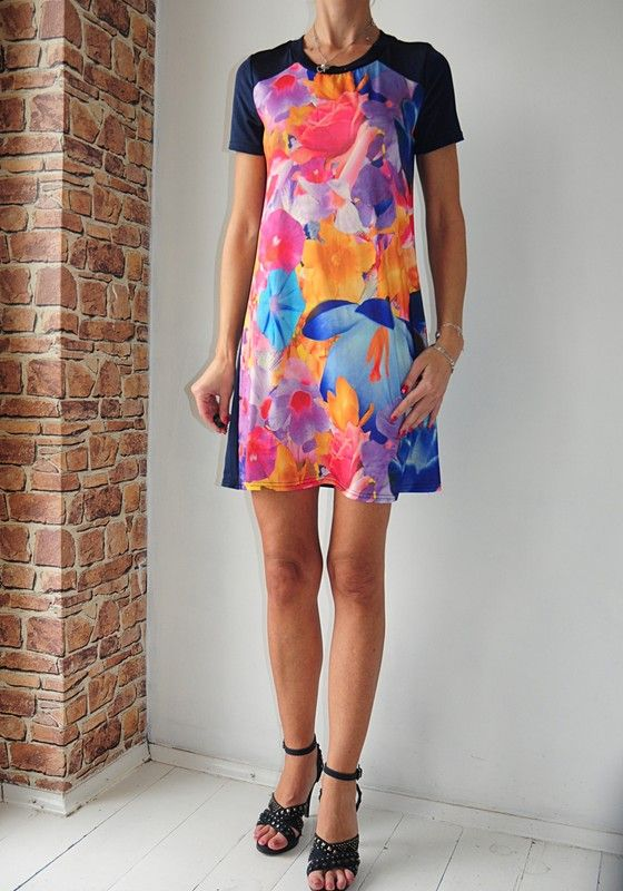 Atmosphere Sukienka Granatowa Kwiaty 34 36 Vinted Pl Dresses Lily Pulitzer Dress Fashion