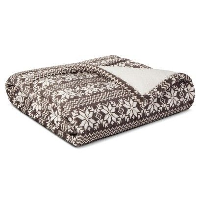 Fair Isle Sherpa Throw - Grey | Home | Pinterest | Grey and Fair isles
