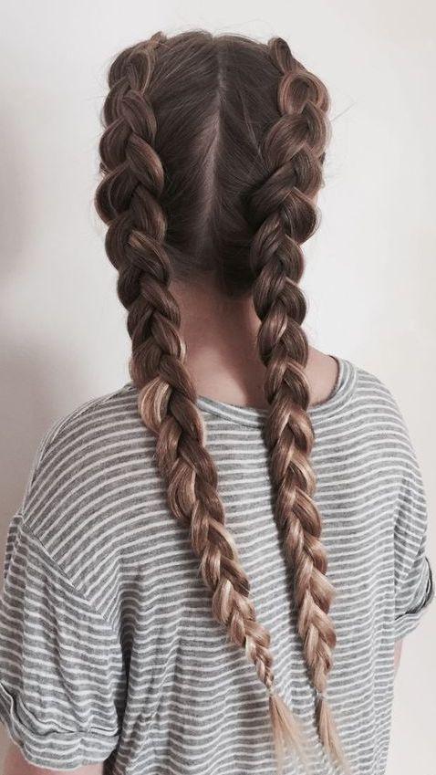 Cute Double Dutch Braids On Long Brown Hair Braids For Long Hair Hair Styles Natural Hair Braids