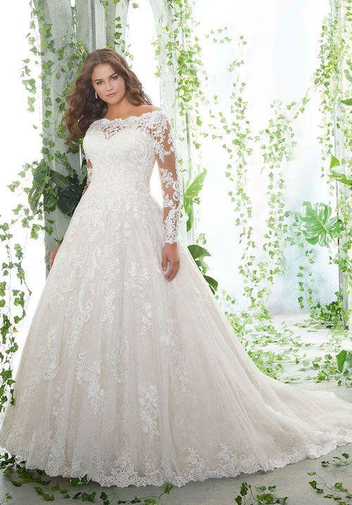 Sélection de robes de mariée princesse en dentelle 2020