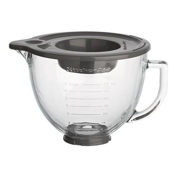 KitchenAid® Stand Mixer Glass Mixer Bowl $70