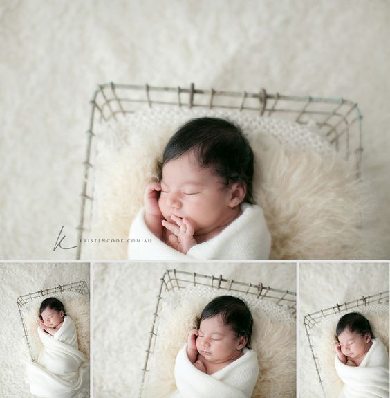newborn. Love the white on white.
