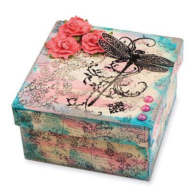 Dragonfly Vine Keepsake Box