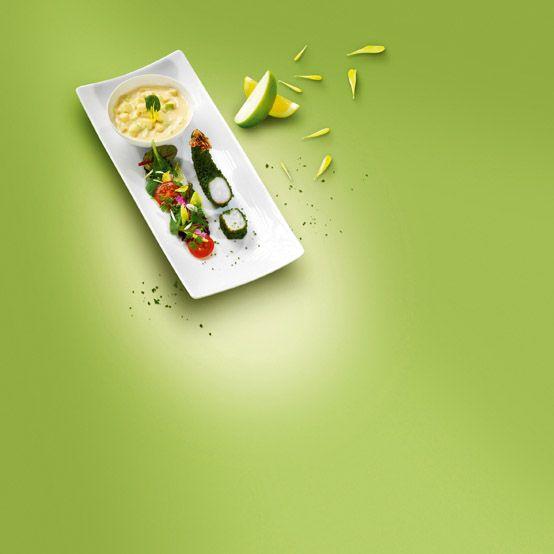 Gebackene Zitronensalz-Garnelen mit Apfel-Karamell-Dip #Rezept #Aquasale #Meersalz