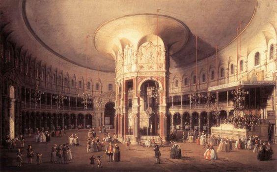 London: Ranelagh, Interior of the Rotunda by CANALETTO #art