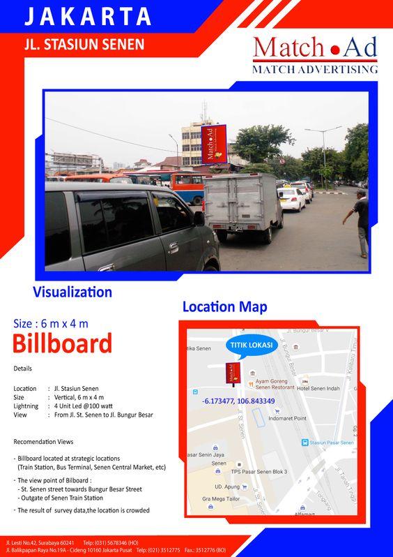 Jakarta Pusat - Baliho 6x4, Jl. Stasiun Senen