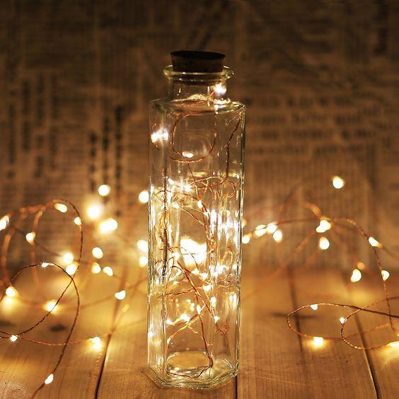 LED Starry String bottle with lights