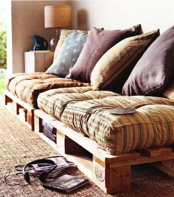 Foto: Sofá hecho a partir de palés