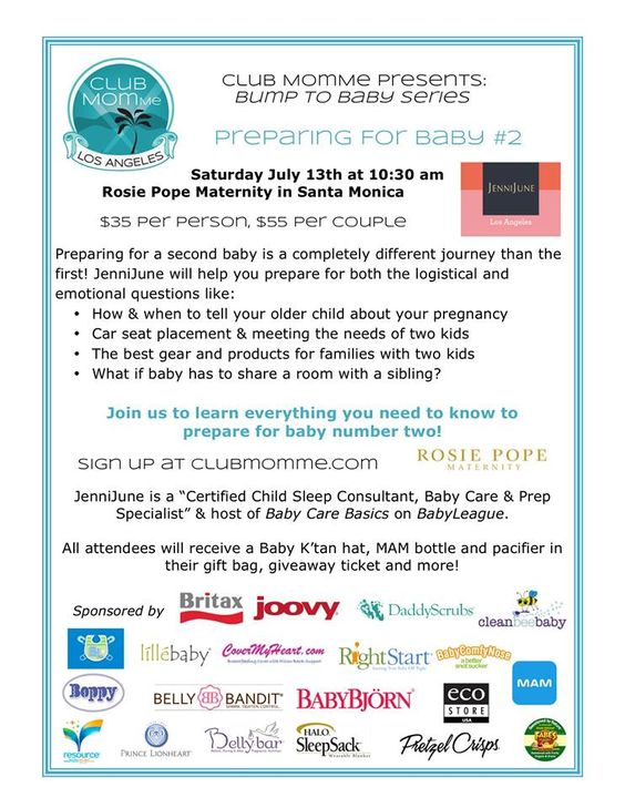 JenniJune, Pediatric Sleep, Baby Care & Prep Specialist, and mother of four, will coach you through it at  Rosie Pope in Santa Monica for Club MomMe! Get your tickets before they sell out! Here's where you can sign up: https://www.facebook.com/events/484849441606453/