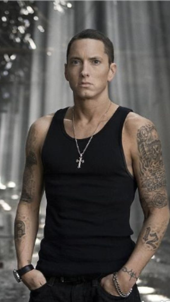Eminem fact 1: Eminem is left handed(Like me) Eminem fact 2: He came up with his stage name eminem cuz of his initials M&M
