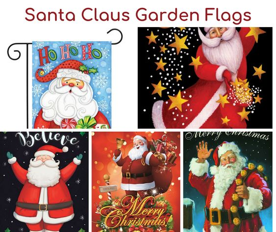 Santa Claus Garden Flags