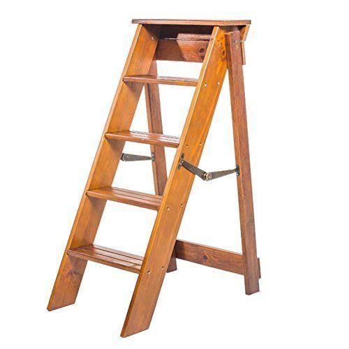 Pengfei Stepstools Folding Ladder Stool Stairs Solid Wood Multifunction Portable Home Renovation Herringbone Ladd In 2020 Portable House Home Renovation Folding Ladder