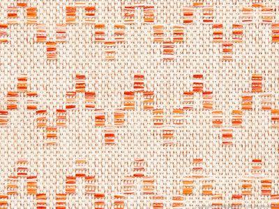 Tapis 100% polyropylène intérieur/extérieur motif chevron orange DAVIA