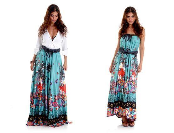moda adriana barra - Vestido/saia.. versátil!