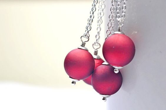 Cranberry Red Wedding Jewelry