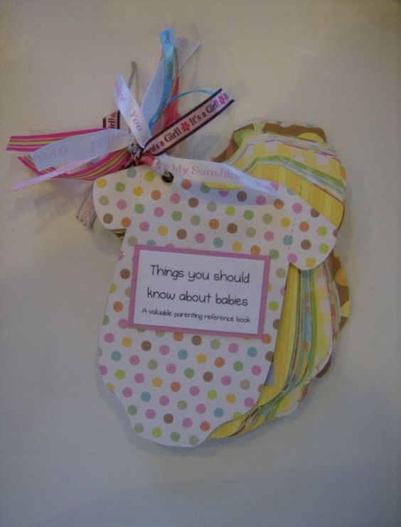 baby shower game guests write their advice for the mom and dad to be