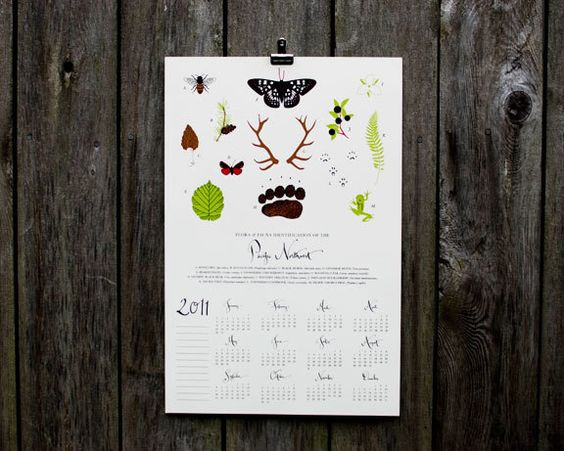flora and fauna of the pacific northwest calendar
