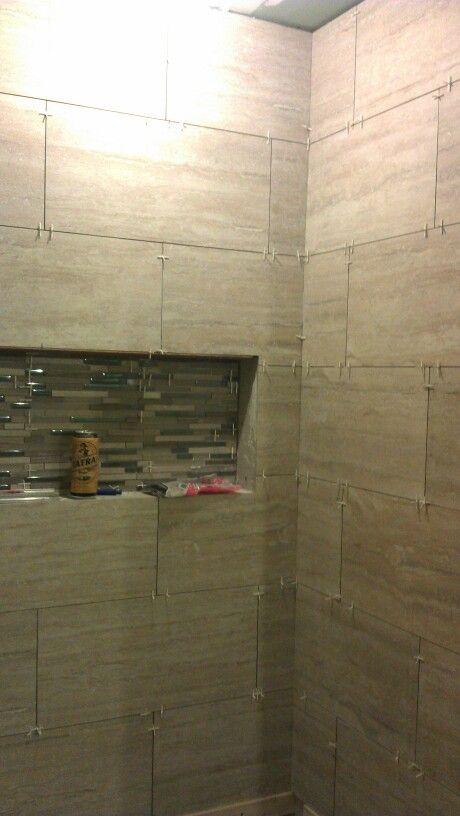 12x24 horizontal tile brick pattern shower   work ...