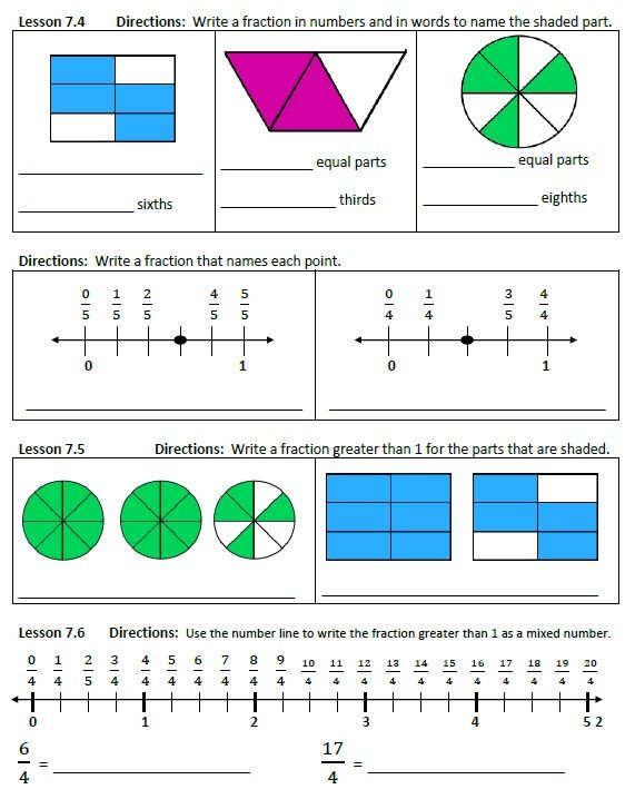 Go Math! Chapter 7 Fractions Quiz PDF download | Fractions ...