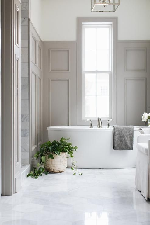 Gray Wood Paneling Accents A Wall Wall And Partially Frames A