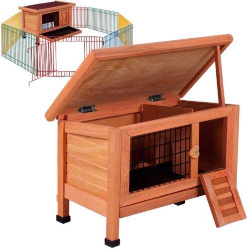 Gabbia-per-conigli-cavie-domestici-con-recinto-Conigliera-pollaio-in-Legno