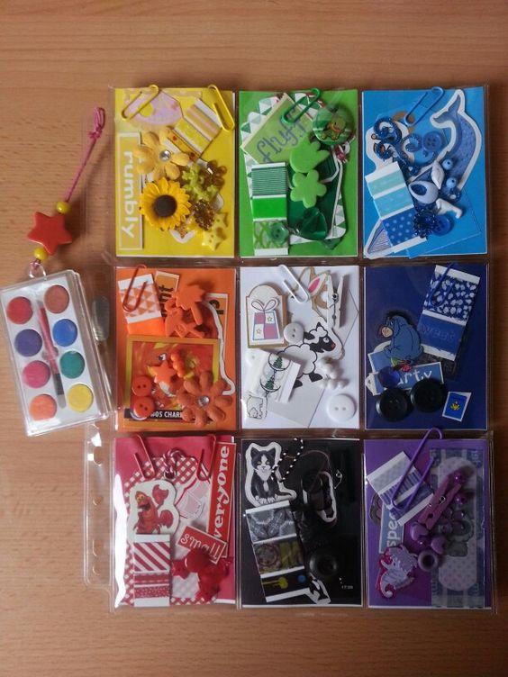 each pocket a different color!