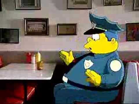 The Simpsons Movie Burger King Ad The Simpsons Movie The Simpsons Chief Wiggum