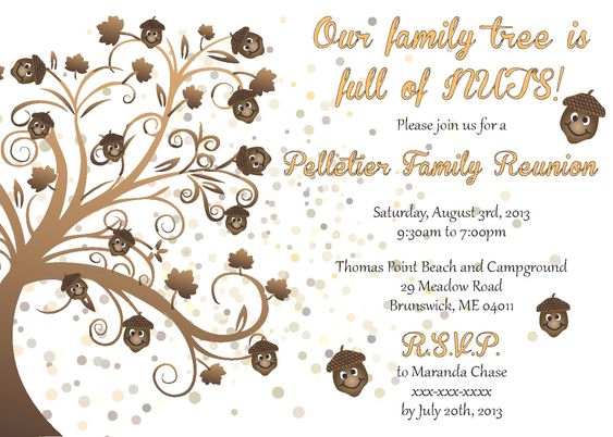 Family Reunion Invitation | Reunions, Family reunion invitations ...