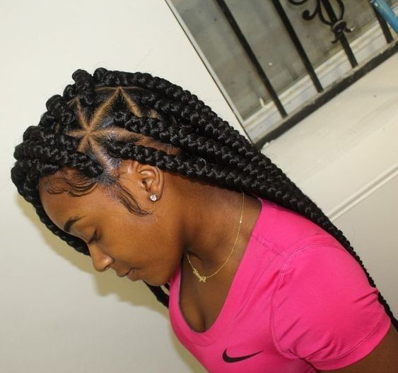 Braid Styles For Natural Hair Growth On All Hair Types For Black Women Girls Hairstyles Braids Box Braids Styling African Braids Hairstyles