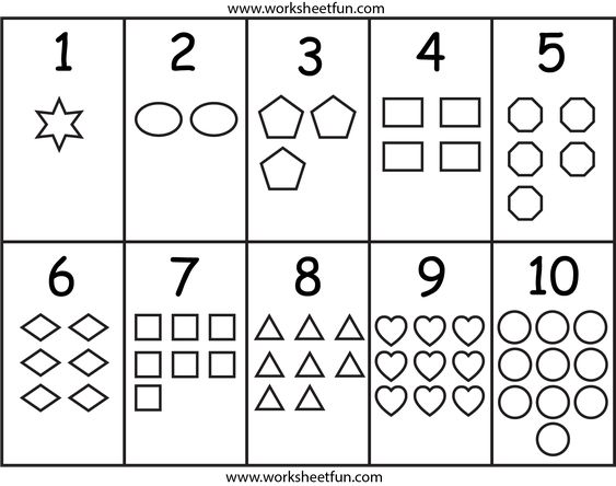Numbers and Shapes Worksheet Printable Worksheets – Kindergarten Shapes Worksheet