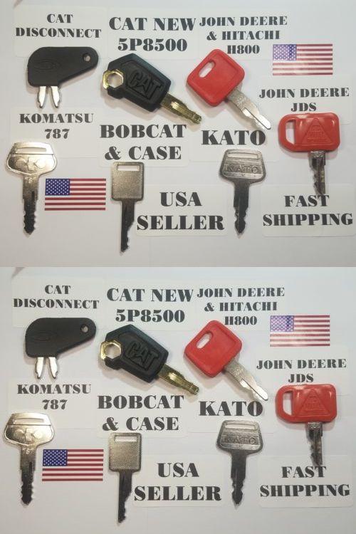 Bobcat John Deere Caterpillar Cat 7 Heavy Equipment Keys Kato Komatsu