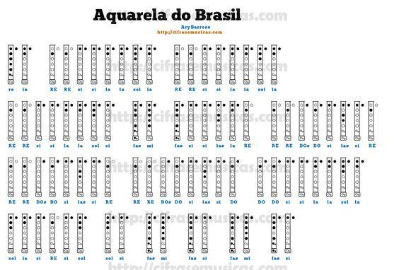 Cifra Aquarela Do Brasil Ary Barroso Para Flauta Doce Flauta