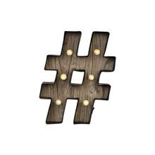 "Studio Décor® Marquee Sign, Hashtag 12.5"""