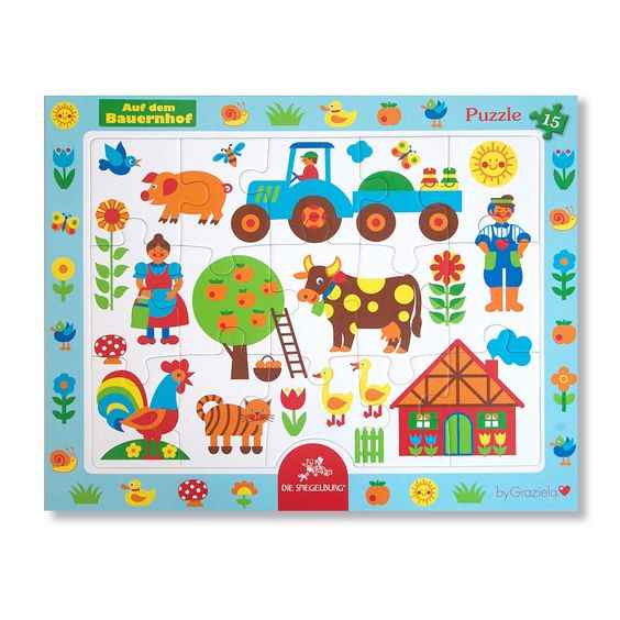 "Bauernhof Rahmenpuzzle / Puzzle ""on the farm"". This perfect little gift makes everyone happy!"