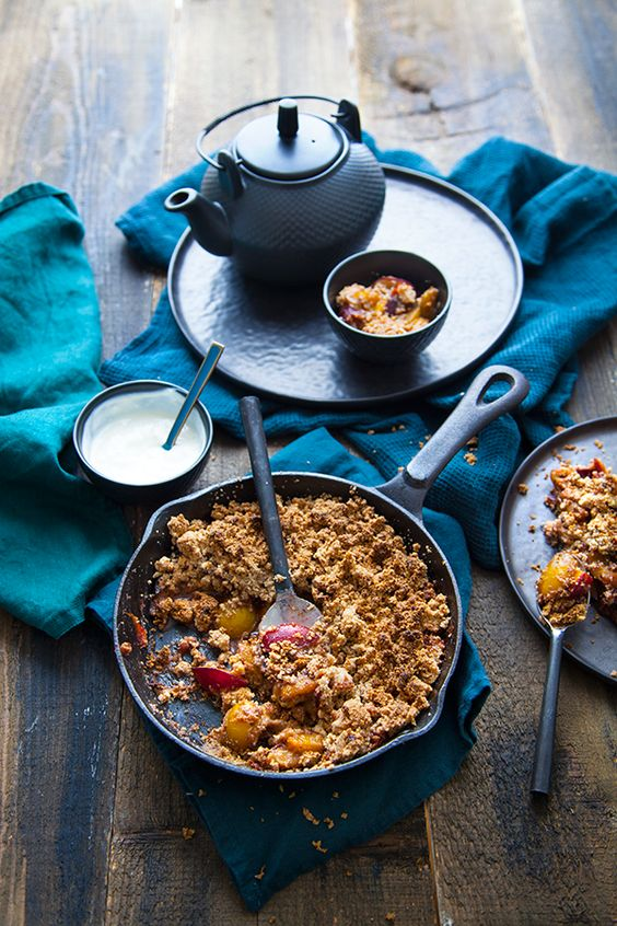 Crumble quetsche & mirabelle - 100 % Végétal | Cuisine vegan