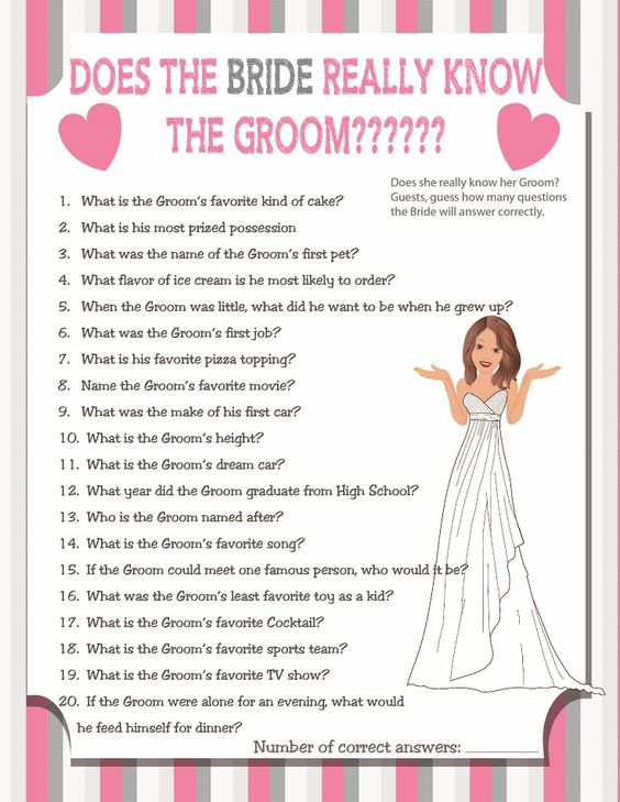 Bridal shower game questions to ask the groom