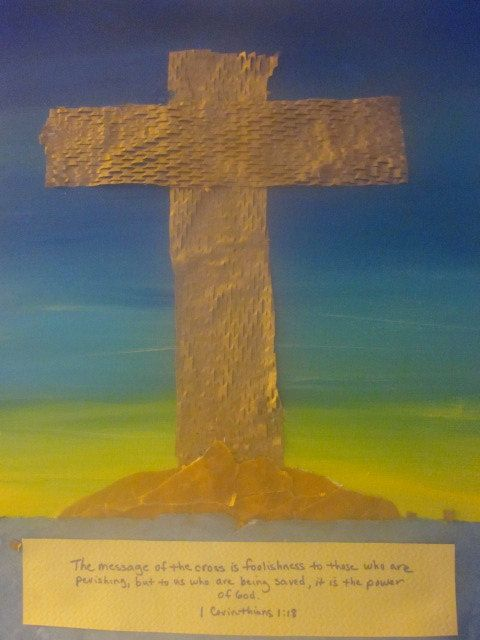 Sunrise Cross Original Scripture art 1 Corinthians 1:18 by GiftsOfHisGlory on Etsy,