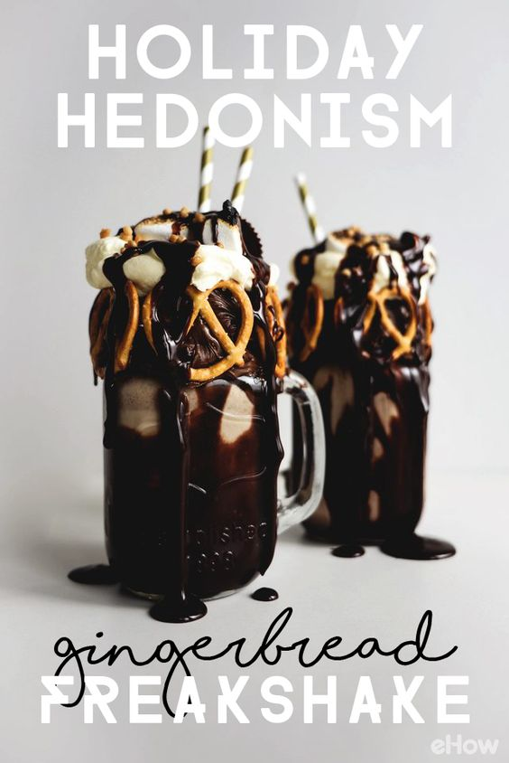 """WOAH! Learn how to make the most eye-catching and mouthwatering gingerbread """"freakshake"""" (also known as a """"monstershake"""") in the comfort of your own home. These delicious shakes are lightly spiced, sweetly flavored by chocolate and are so simple to make. They come together in a matter of minutes, too. Perfect holiday treat…"""