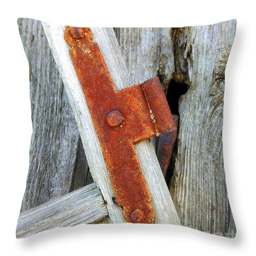Rust Throw Pillow featuring the photograph Old Window by Erika H