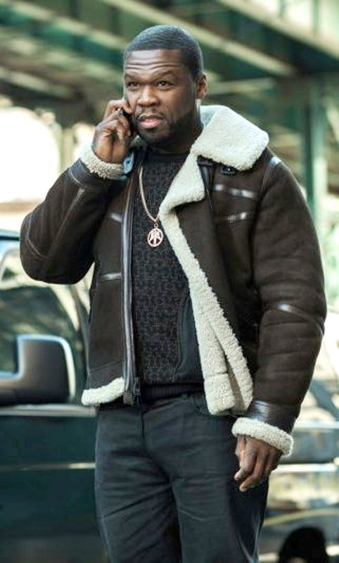 Brown Shearling 50 Cent Jacket Power Fur Leather Jacket Leather