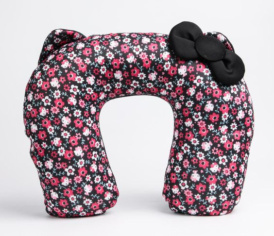 Hello Kitty Travel Pillow: Pattern in Bags Travel + Accessories Travel Accessories at Sanrio