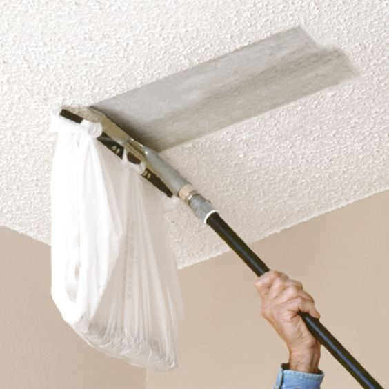 you can attach a plastic bag to this popcorn ceiling. Black Bedroom Furniture Sets. Home Design Ideas