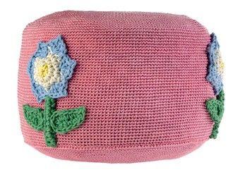 pouf fleur en crochet