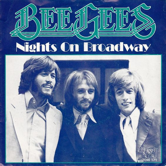Bee Gees – Nights on Broadway (single cover art)