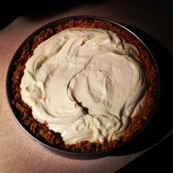 """""""Creamy beginnings of a bourbon turtle cheesecake with sugar baked rum marinated pecans and salted caramel ganache."""""""