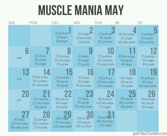 Monthly workout